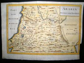 Arabia C1750 Hand Col Antique Map